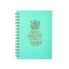 Custom Printing Cute Pineapple Hardcover Spiral Journal, Wholesale Writing Paper Notebook With Handmade