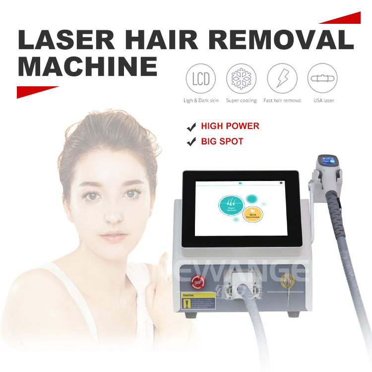 Painless hair removal laser machine diode laser 755 808 1064 portable