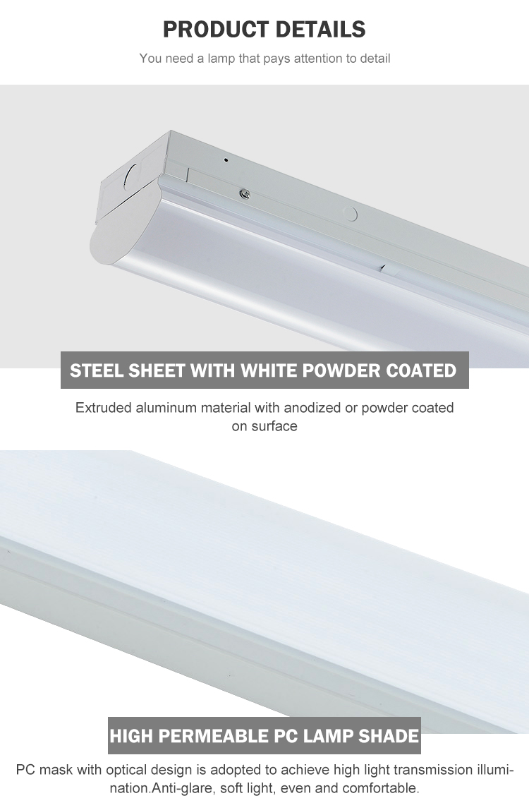 CE SAA ETL 2FT 4FT 8FT 18w 24w 36w 63w 85w linear trunking system hanging led batten light