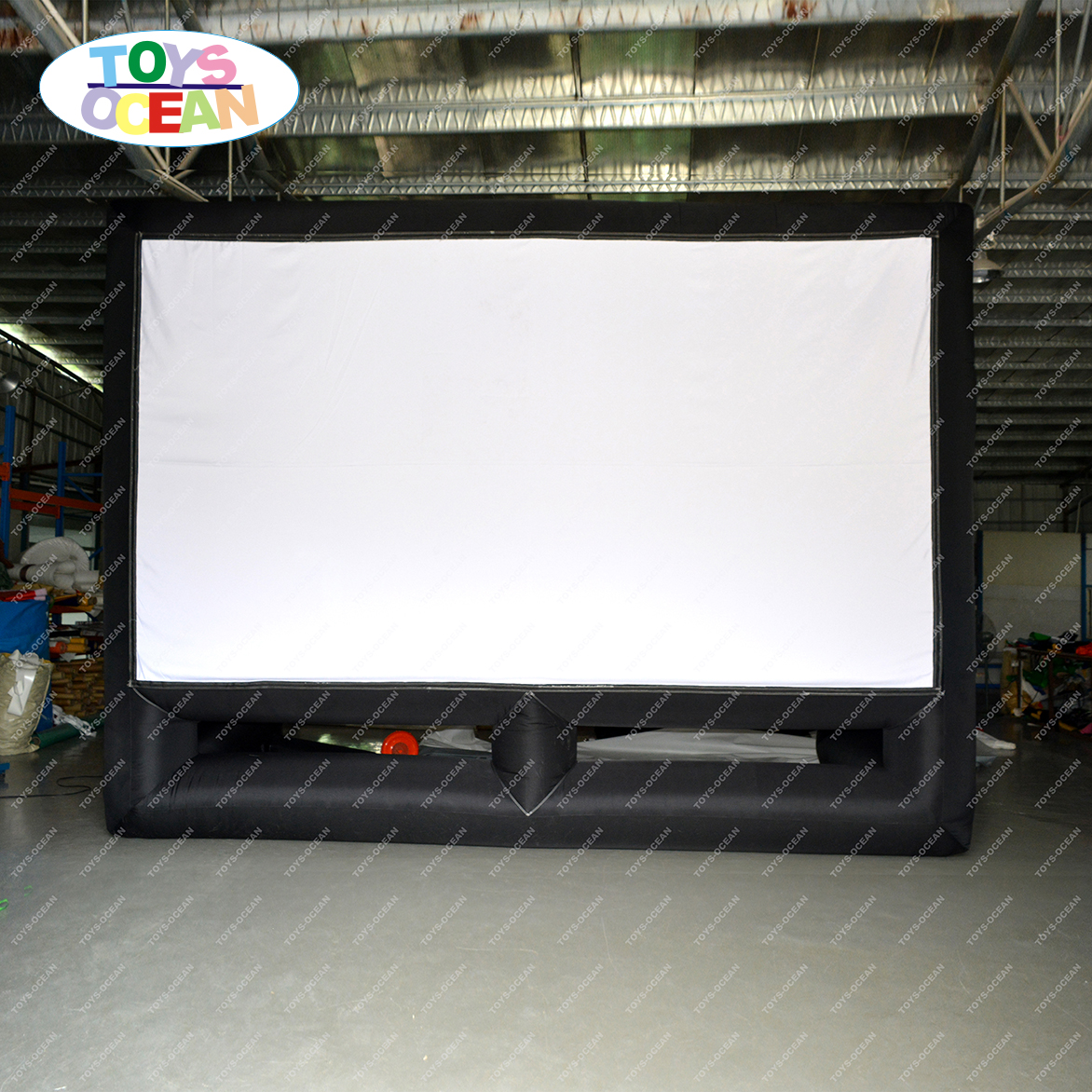outdoor inflatable cinema air projection screen for movie projector