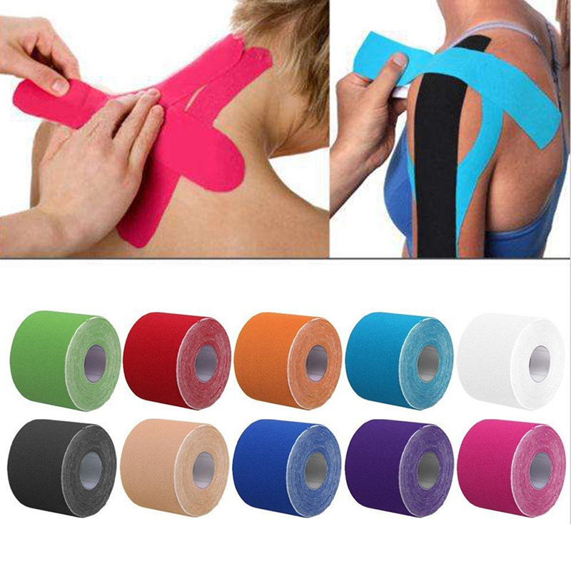 2 maten Kinesiologie Tape Athletic Tape Sport Herstel Tape Strapping Gym Fitness Tennis Running Knie Spier Protector Schaar