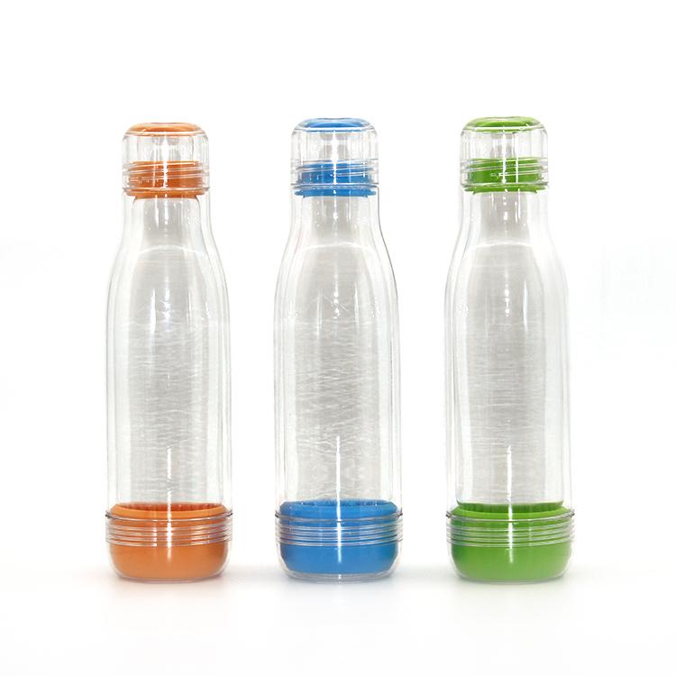 دائم واضح الزجاج بطانة تريتان الخارجي المياه زجاجة مع موضوع غطاء