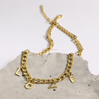 High Quality Fashion Jewelry Gold Plated Stainless Steel Love Letter Chain Pendant Necklace P193021