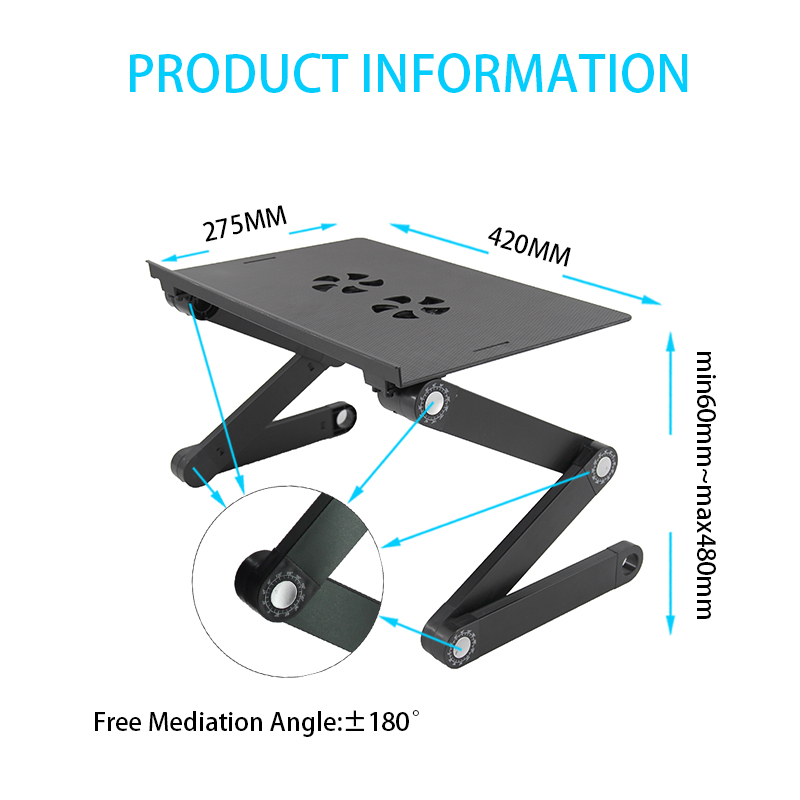 Modern Foldable Computer table wholesale folding laptop stand in bed