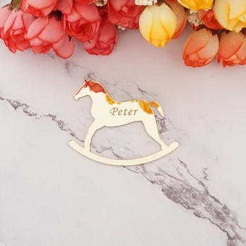 Horse Shape Custom Name Guest Gifts Laser Cut Acrylic Mirror Personalized Wedding Favors Babyshower Decor Bride Favors Buy Acrylic Mirror Indicator Wall Sticker Door Sign Decorative Mirrors 3d Stickers Home Indicator