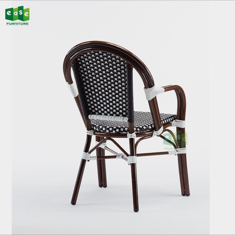 Европейский ресторан французский бистро Ротанга Кафе подлокотники стулья (E200779 arm)