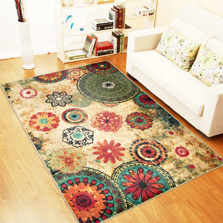 Designer Boho Retro Style Living Room Floor Carpets,Colorful Upscale Home  Decoration Mats,Elegant Washable Bohemia Rugs - Buy Washable Rugs,Home ...