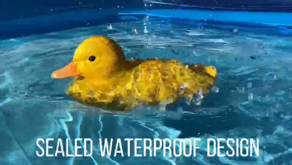 V203 2in1 Simulation Floating Toys Motion Decoration Yellow Duck RC Boat For Swimming Pool And Beach