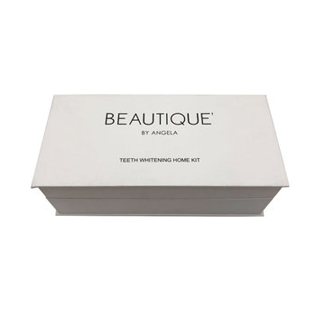 White customized cosmetic packaging cardboard paper box for teeth whitening