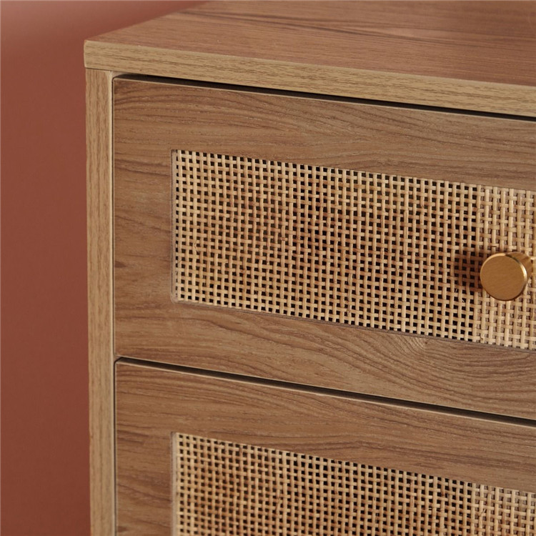 Bedroom Rattan Luxury MDF Chest Of Drawers