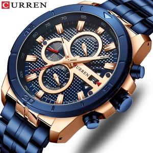 CURREN 8337  Business Men Watch Luxury Brand Stainless Steel Wrist Watch Chronograph Army Military Quartz Watches