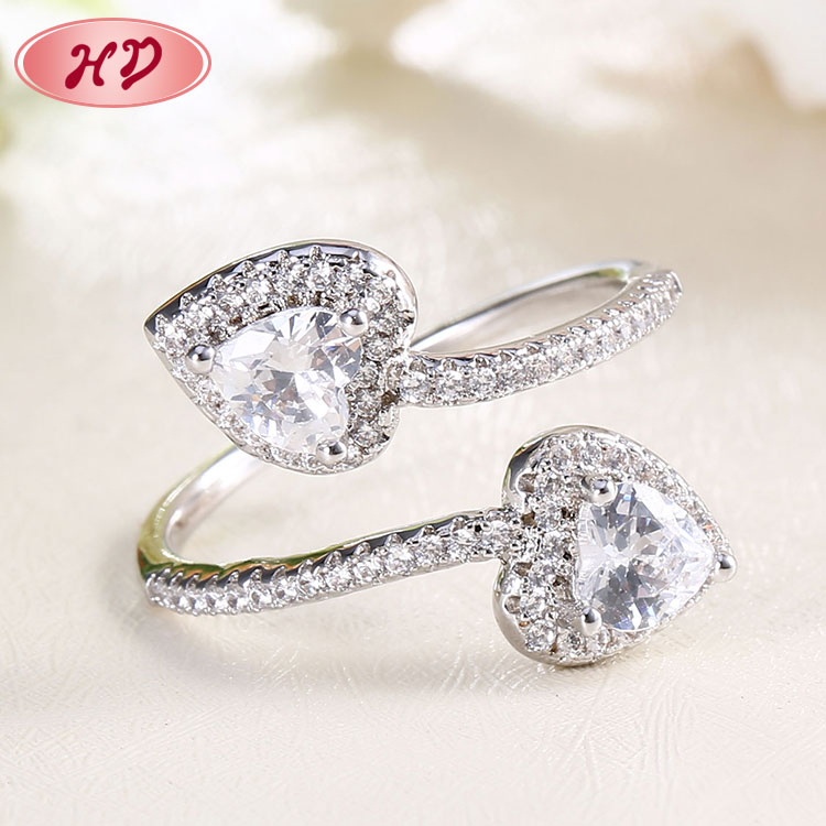 rose diamond magic 925 flower cubic zirconia ring custom for girls wedding pure <strong>silver</strong>