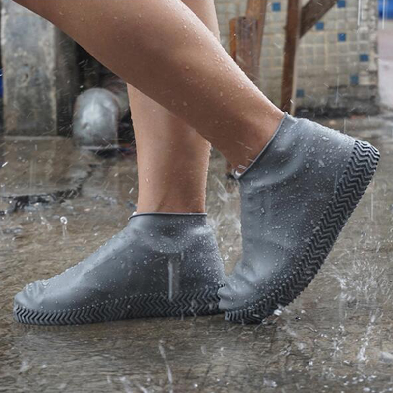 Recyclable Silicone Overshoes Reusable Waterproof Rainproof women Men Shoes Covers