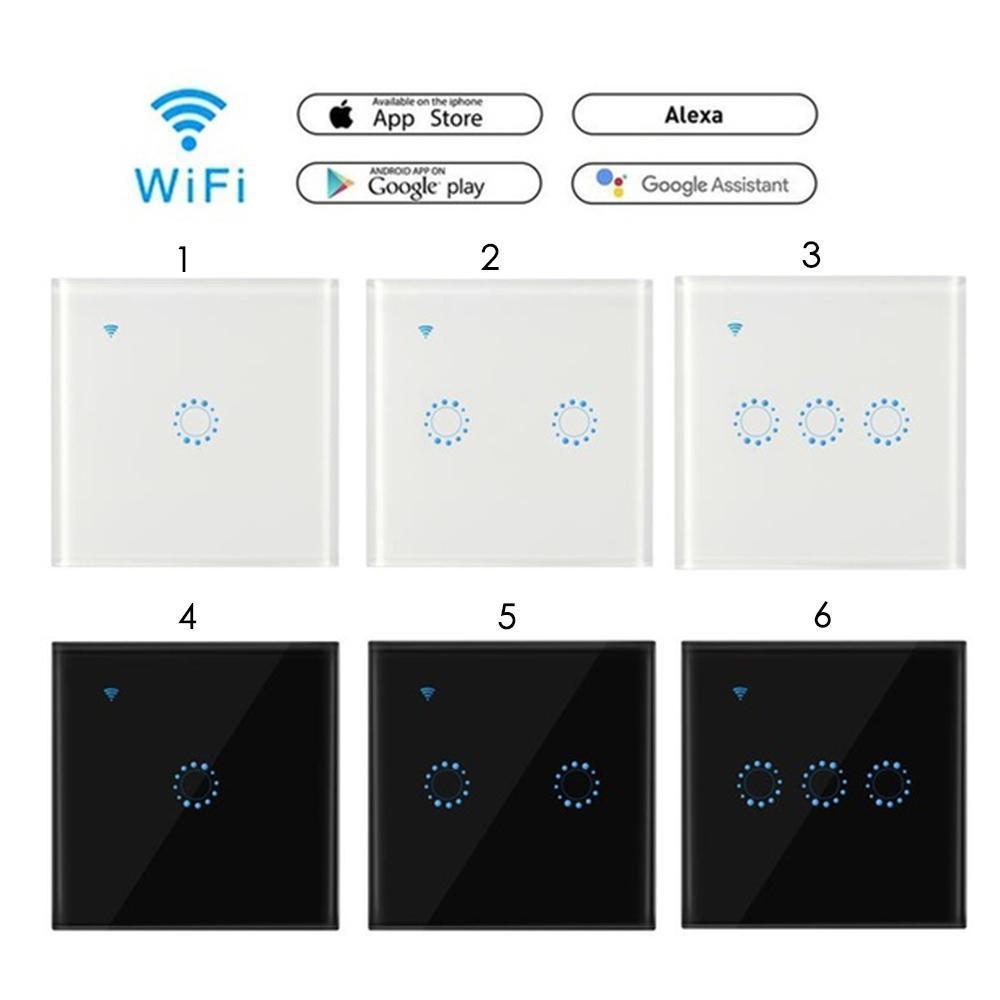 TUYA EU UK 1 GANG WiFi ZigBee สวิทช์ไร้สายสมาร์ท photocell สำหรับ Google Home
