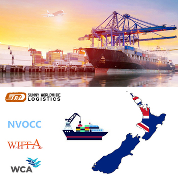 Profession International Sea Shipping Services Ocean Freight From China To New Zealand