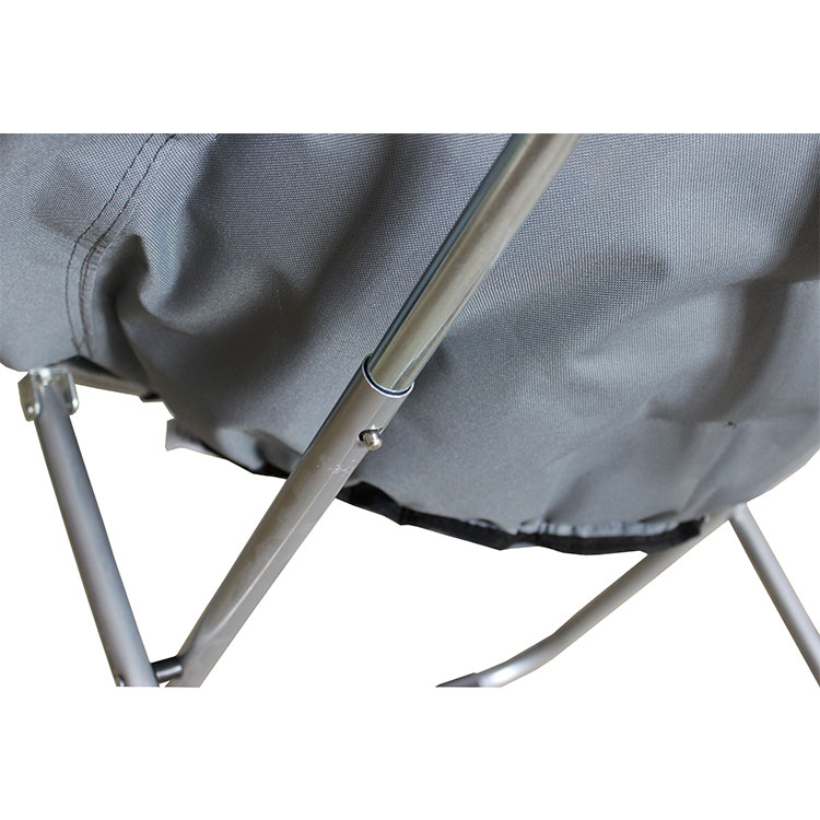 Outdoor/indoor Padded Folding Foldable Round Chair Camping Moon Chair