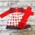 Factory Wholesale Baby Fall Winter Valentine's Day Love Red Little Girl Ruffled Clothes Set