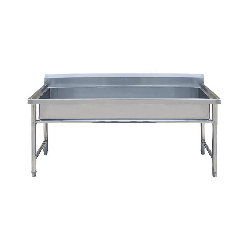 Industrial Restaurant Commercial Stainless Steel Kitchen Sink With Backsplash