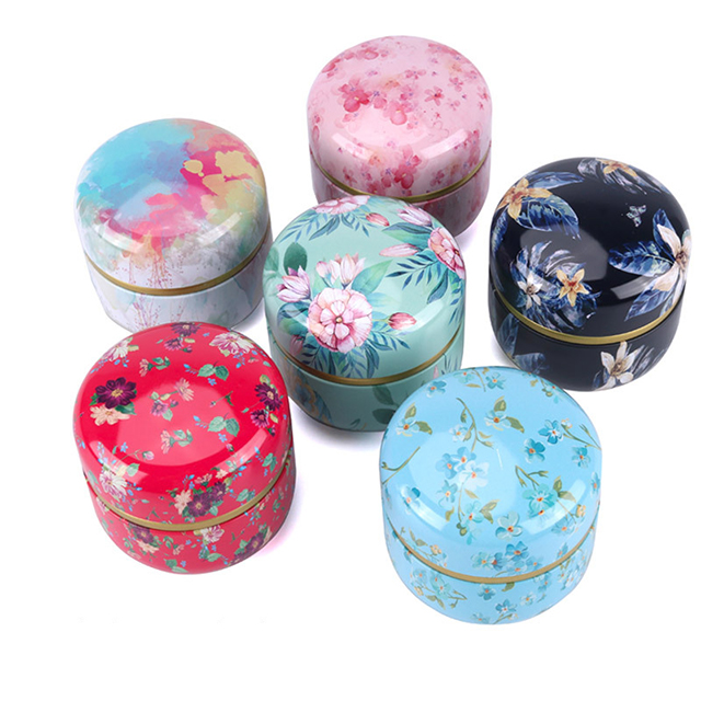 Colorful mini portable round universal packaging box metal box
