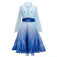 Anna Elsa 2 New Girls Princess Dress Halloween Cosplay Costume For Kids Frozen 2 Birthday Party Evening Party Dresses MY01