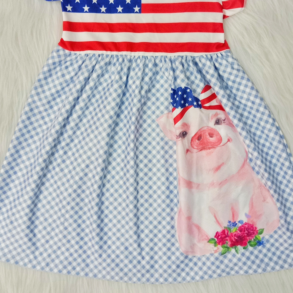 rts toddler baby girls summer dress kids designer dresses girls boutique outfits milk silk stripe kids dress national day hot