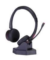High quality binaural or monaural wireless bluetooth headset with noise cancelling microphone for call center or office
