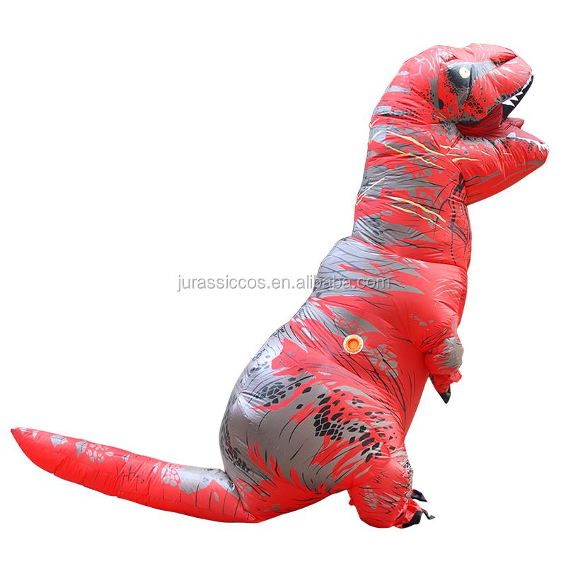 ชุดไดโนเสาร์เป่าลมยักษ์ทีเร็กซ์สำหรับผู้ใหญ่,เครื่องแต่งกายมังกรเป่าลมมี10สีสำหรับเด็กและผู้ใหญ่
