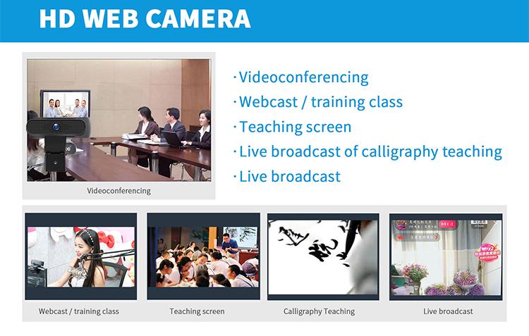 2020 nueva llegada HD cámara Web de 1080P Video llamar Reunión de transmisión en directo USB cámara Web para PC Webcam