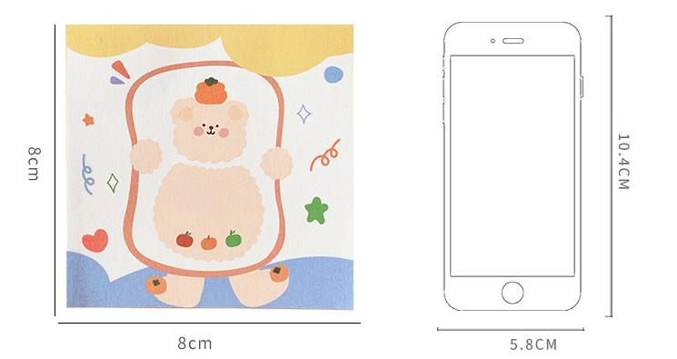 Custom Print Cartoon Gepersonaliseerde Sticky Memo Notes Pad Voor Kantoor