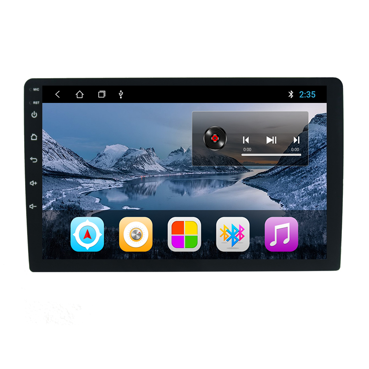 2+16GB Universal Multimedia Android 9 System Car Radio with 9 inch Touch Screen Bluetooth Wifi GPS MP5 Music Player