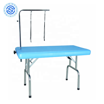 2019 professional grooming table pet dog good quality portable plastic tob folding dog grooming table for sale