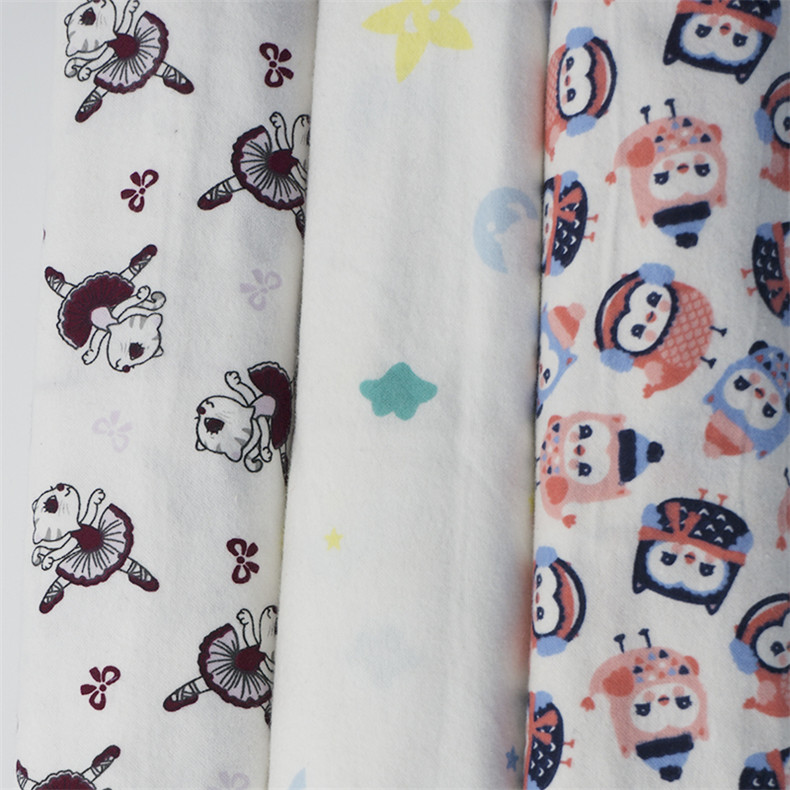 100% cotton muslin fabric printing for bed sheet in roll