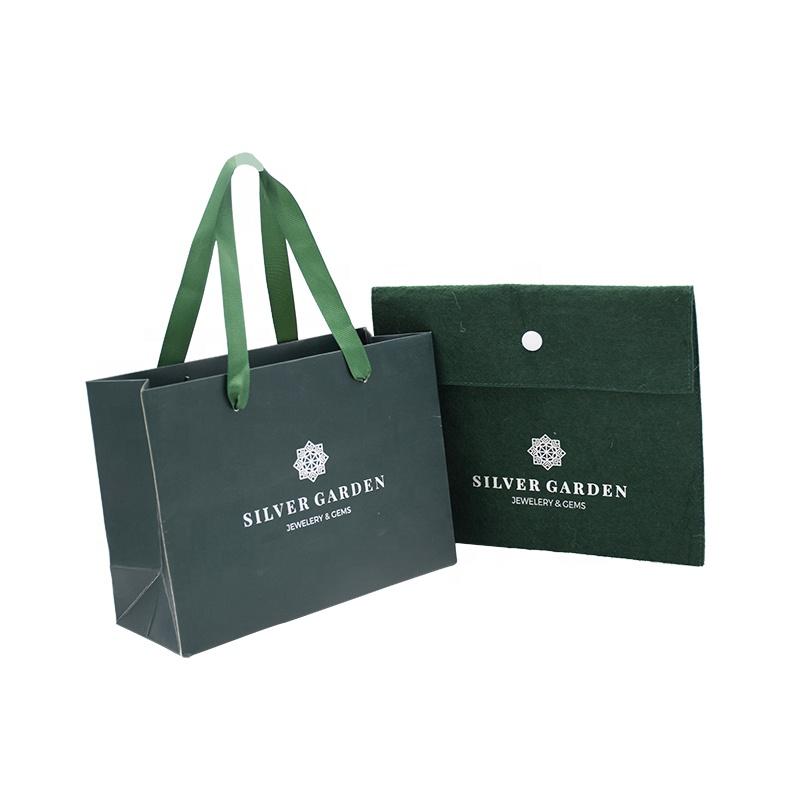Design di lusso logo personalizzato stampato Pieghevole shopping di arte sacchetto di carta Regalo con Ansa a nastro