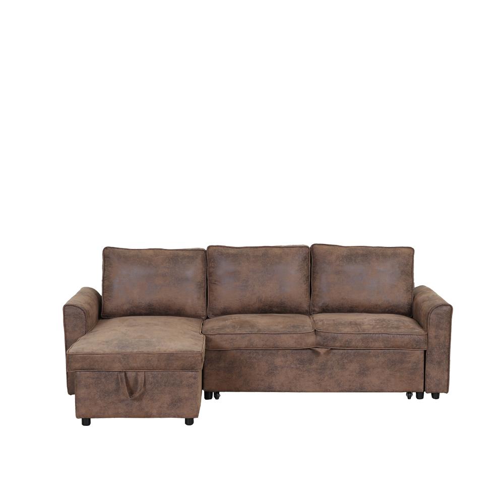 Modern Convertible Leather L Shape