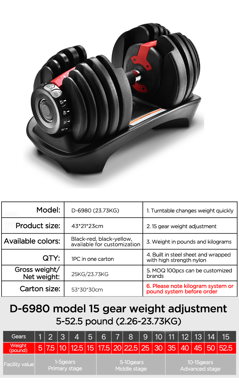 New design gym dumbells on sale cast iron adjustable dumbbell set