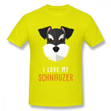 Летняя мужская собака породы Шнауцер футболка для мужчин мультфильм животное футболка Camiseta Япония аниме на заказ футболка компания футбол...(Китай)