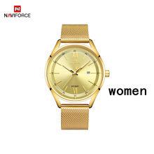 NAVIFORCE роскошные часы для мужчин и женщин, мужские повседневные водонепроницаемые кварцевые часы, мужские синие наручные часы для пар, Relogios ...(Китай)
