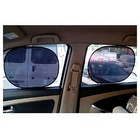 2Pcs PVC Car Rear Window Side Sun Shade Cover Block Static Cling Visor Screen Shield