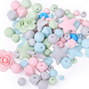 New Soft Baby Teething Beads Bpa Free Food Grade Silicone Beads Wholesale