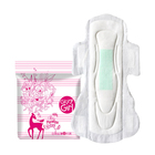 Popular feminine care adult sanitary napkin with logo low cost disposable ultra thick menstrual pads for ladies in italy