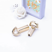 Gold-plated multi-colored spot guangzhou leather accessories for lady's bag zinc alloy hand clasp screw D buckle side clip
