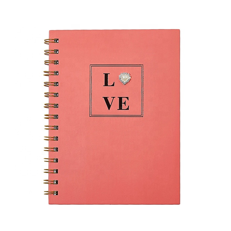 2020 Fashion Paper Diary Spiral Notebook, Custom Printing Hardcover Travel Journals For Woman