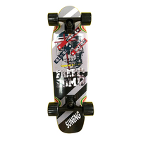 Cheaper Good Quality Mini Wood Surf Skate Board Completed With High Rebound Wheels For Sale