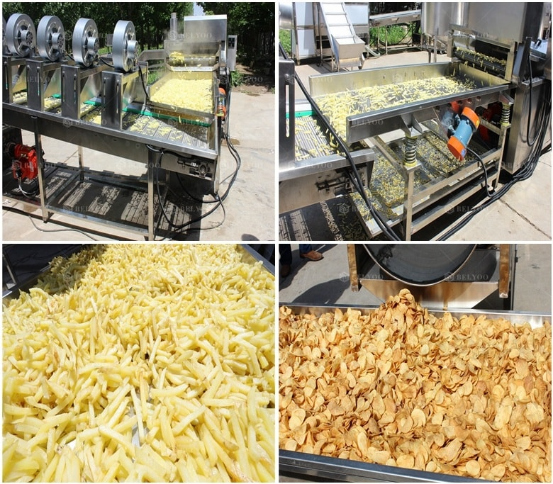 Smallest frozen french fries making machine semi auto potato chips production line with factory price
