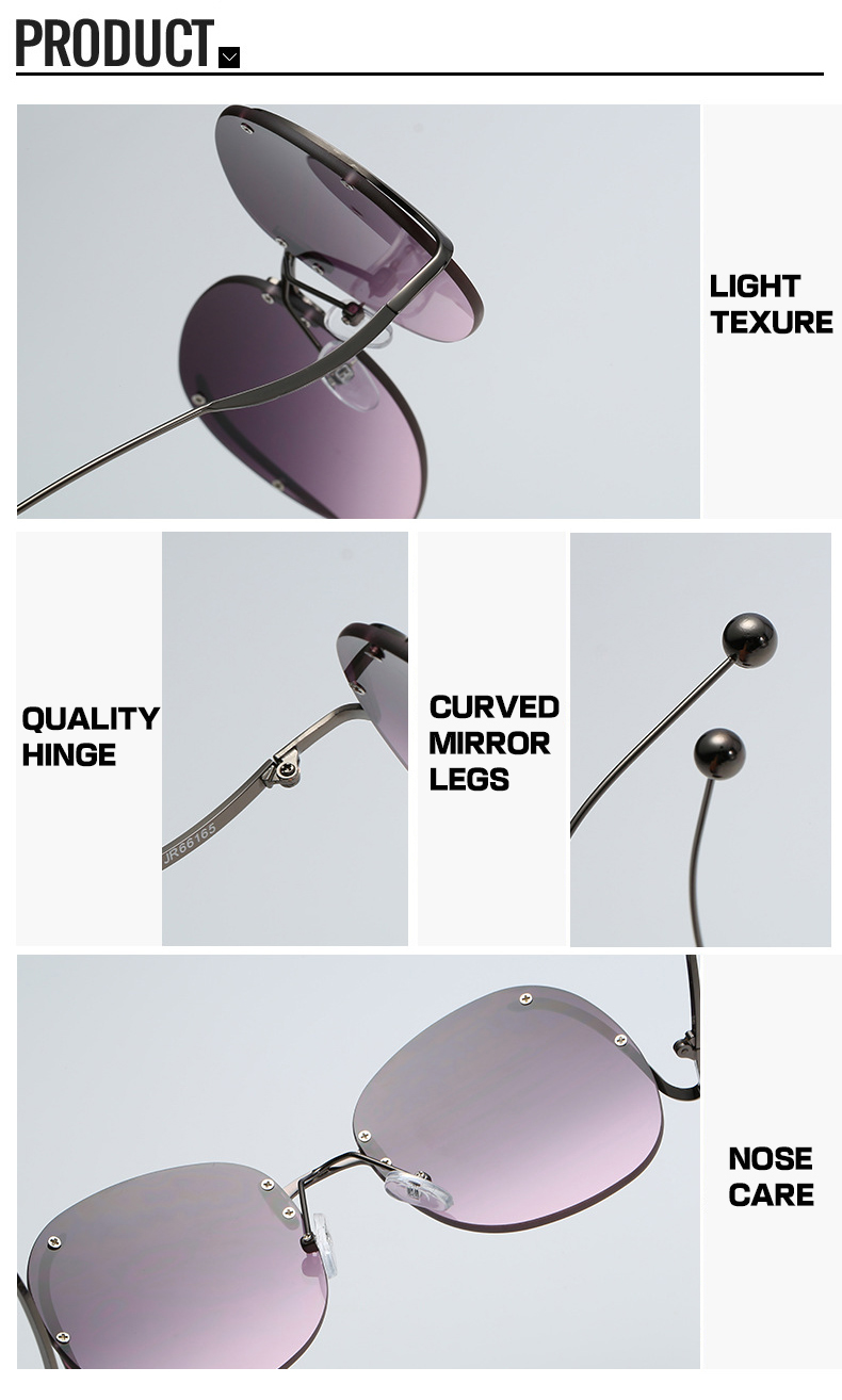 Fashion OEM Small Steel Ball Big Frame Women Retro Designer Sunglasses
