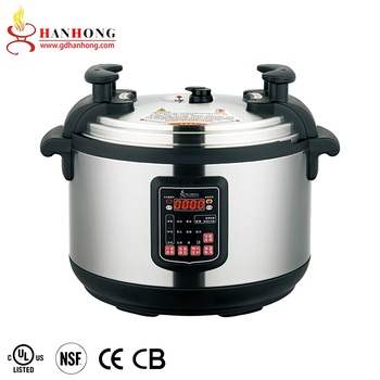 UL CE Large Capital Stainless Steel Rice Pressure Cooker 17L 21L 25L 33L 45L 55 L 65 Liter Commercial Electric Pressure Cooker