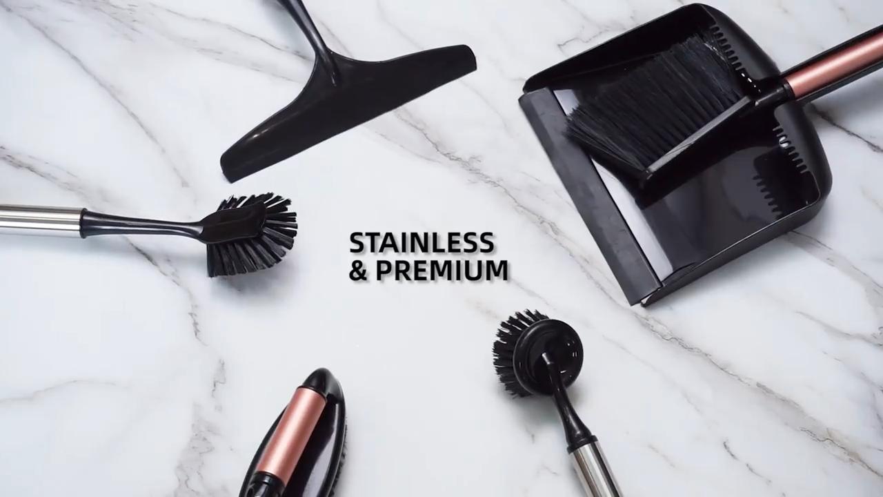 Masthome paslanmaz çelik saplar yuvarlak kafa bulaşık scrubber pot tava fırça mutfak temizlik için