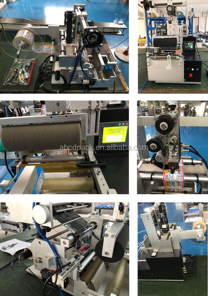 반자동 원형 병 라벨 어플리케이터 반자동 소독제 핸드 젤 라벨링 기계