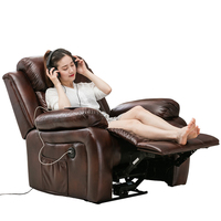 Modern Microfiber Leather Massage Electric Kd Motor PU One Seater Seat Cinema Living Room Manual Power Single Sofa Recliner
