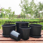 Flower Pots 3 Gallon Plant Pot Factory Supply Outdoor Garden Round Black 1/2/3/5/6/7/10/15 Gallon Plastic Flower Plant Pots